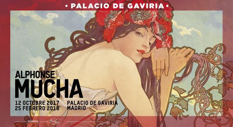Cartel Alphonse Mucha Palacio Gaviria Madrid
