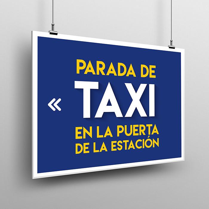 Parada de Taxi vinilo y pvc diev