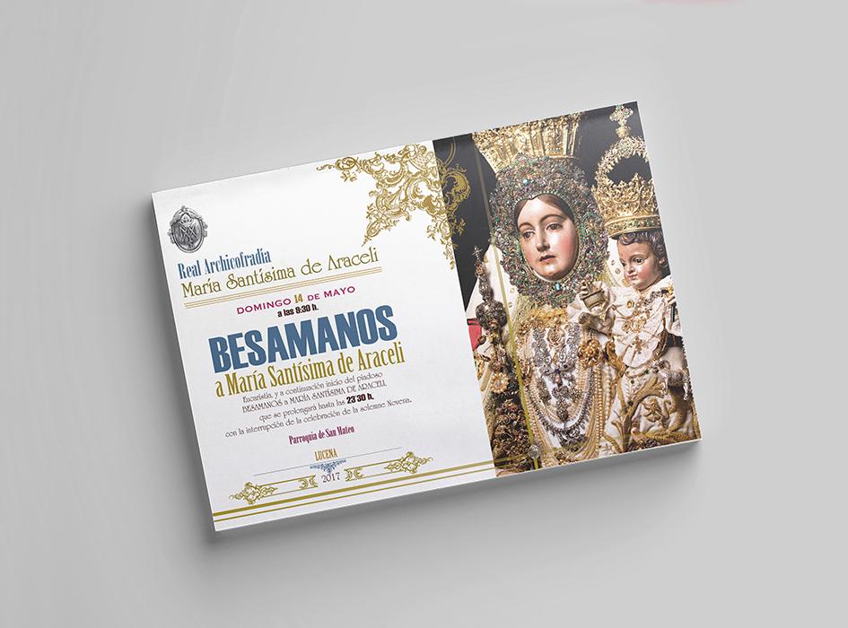 Cartel Besamanos Araceli Lucena diev