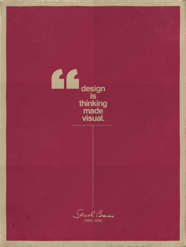 Diseño es pensar en visual - Saul Bass