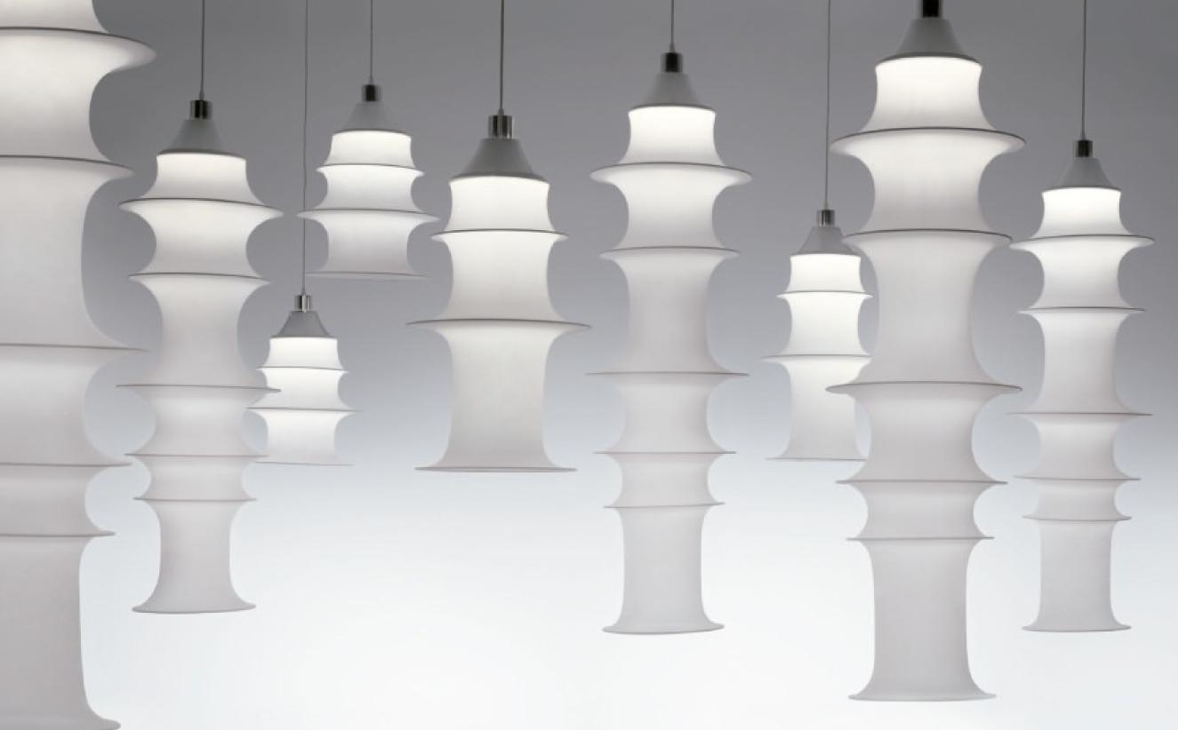 Lámpara Fakland, de Bruno Munari.