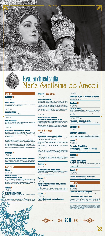 Programa de las Fiestas Aracelitanas 2017
