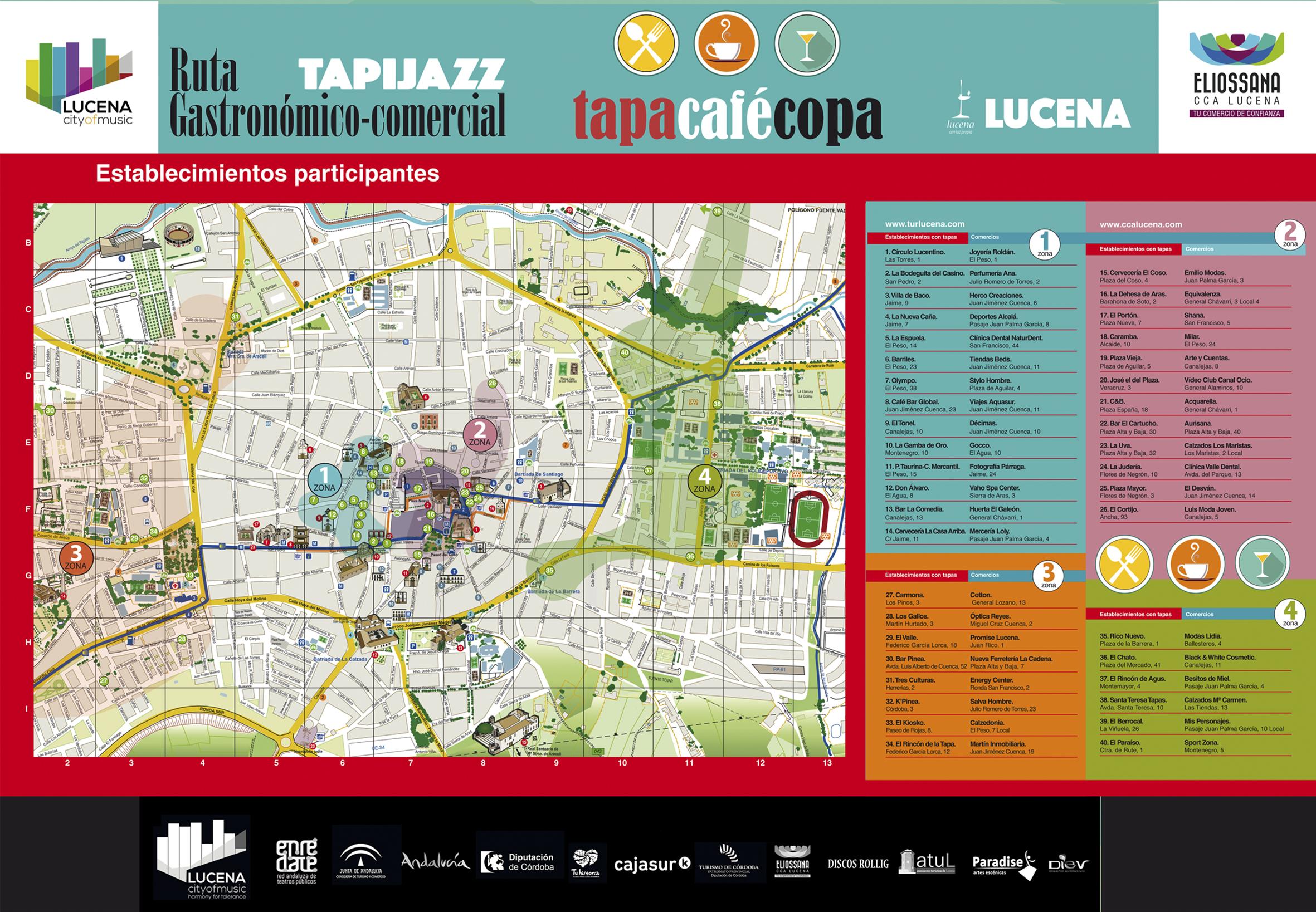 Mapa Gastronómico y Comercial de Tapijazz 2017