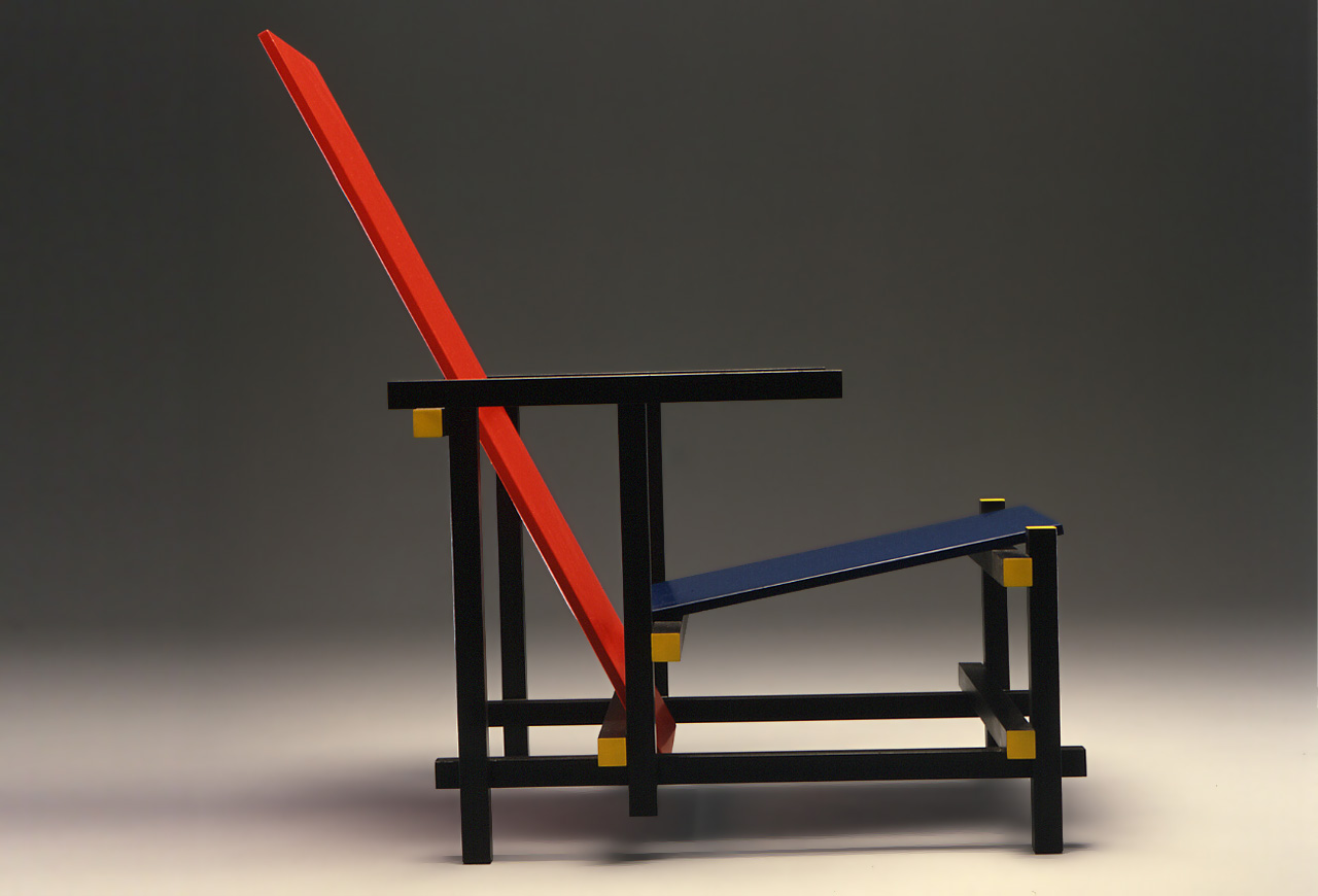 Silla Roja y Azul de G. Rietveld.