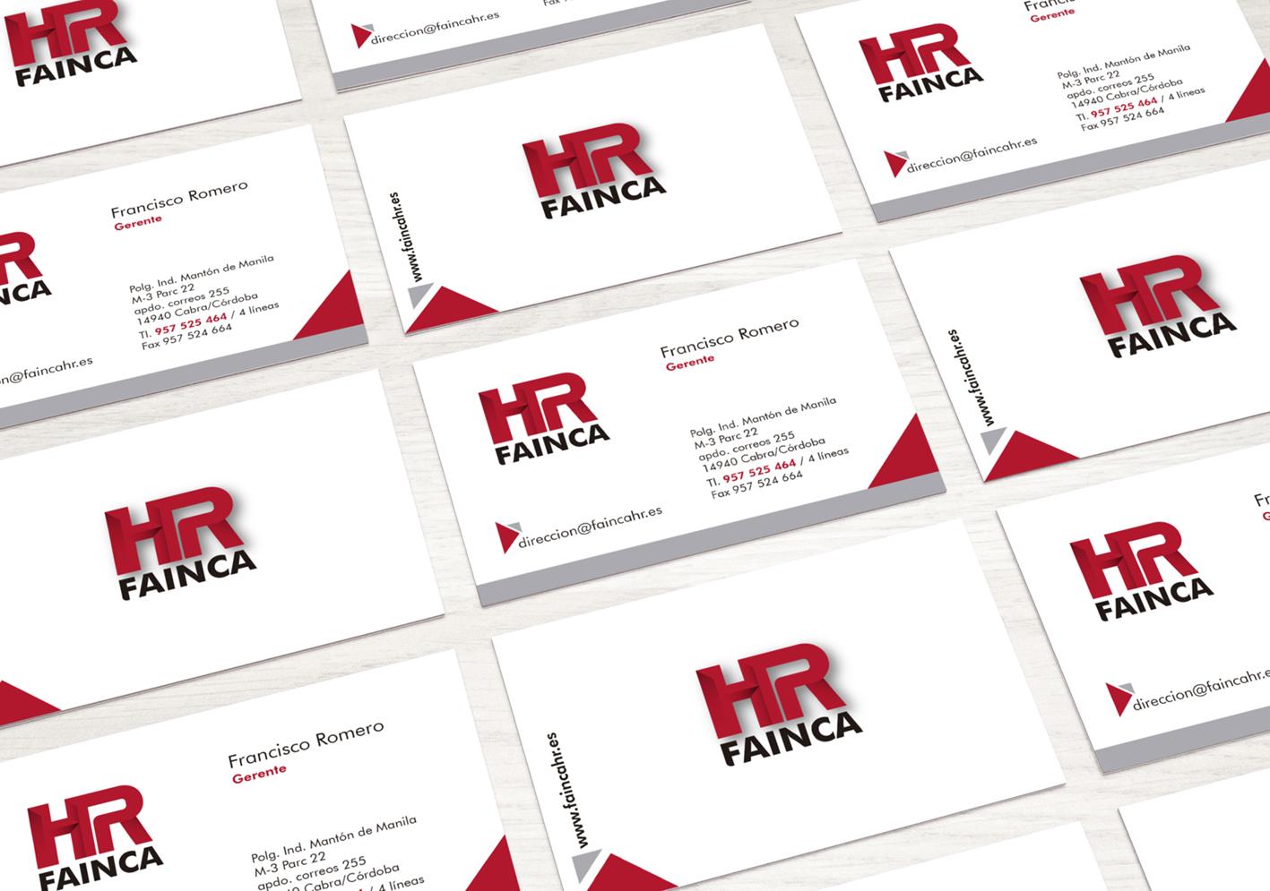 Tarjetas visita HR Fainca