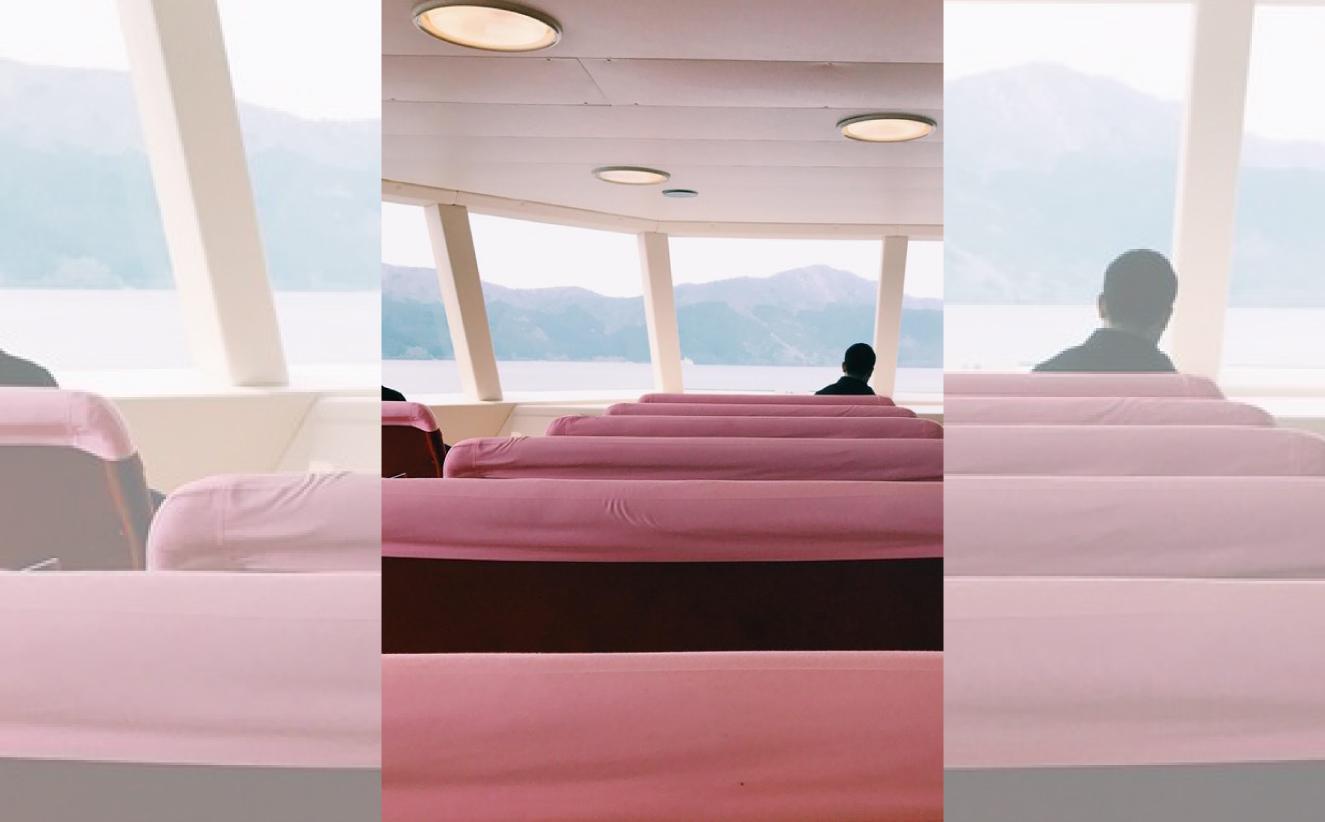 Interior Ferry, Lago Ashi, Japón