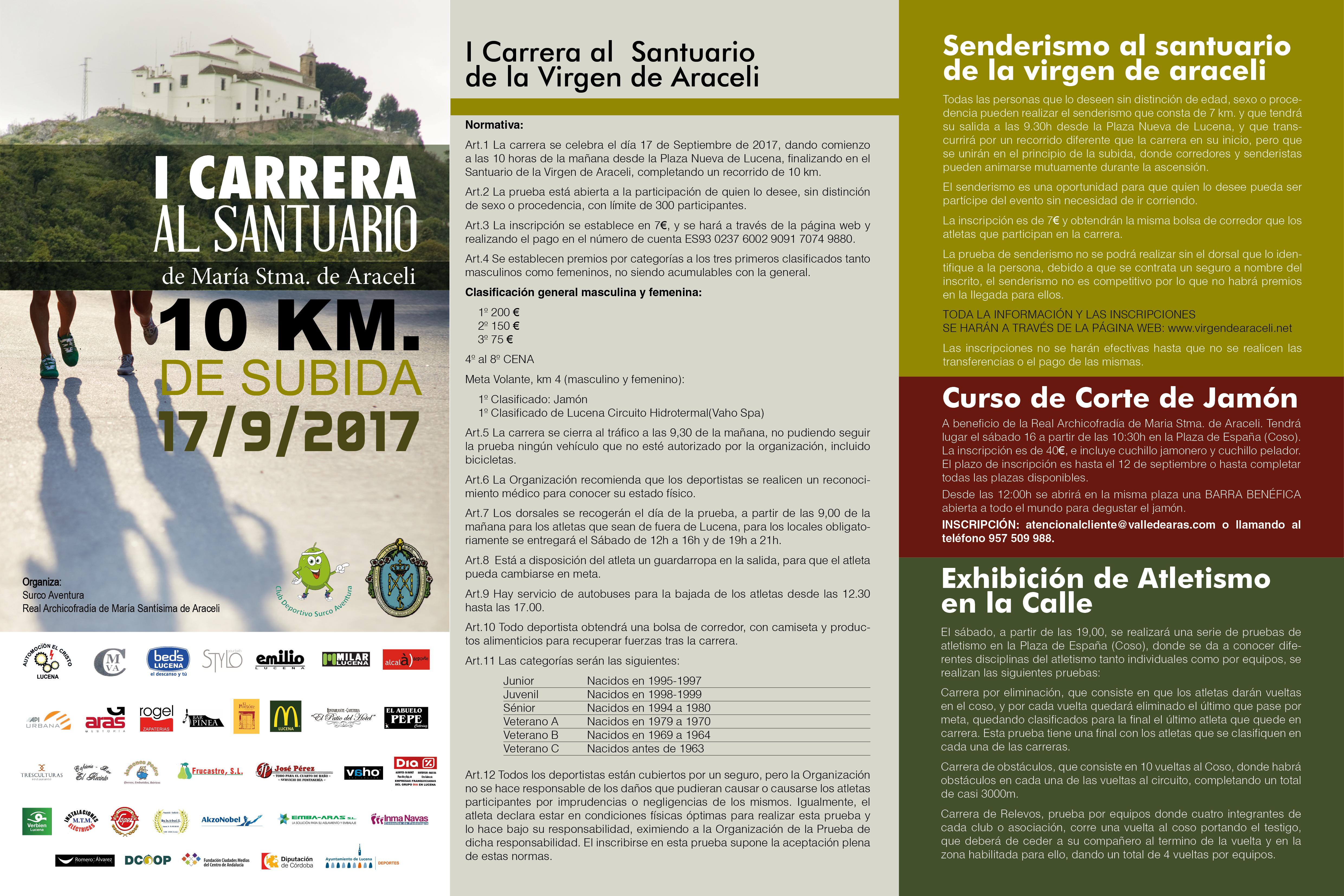 Informacion I Carrera al Santuario de la Virgen de Araceli