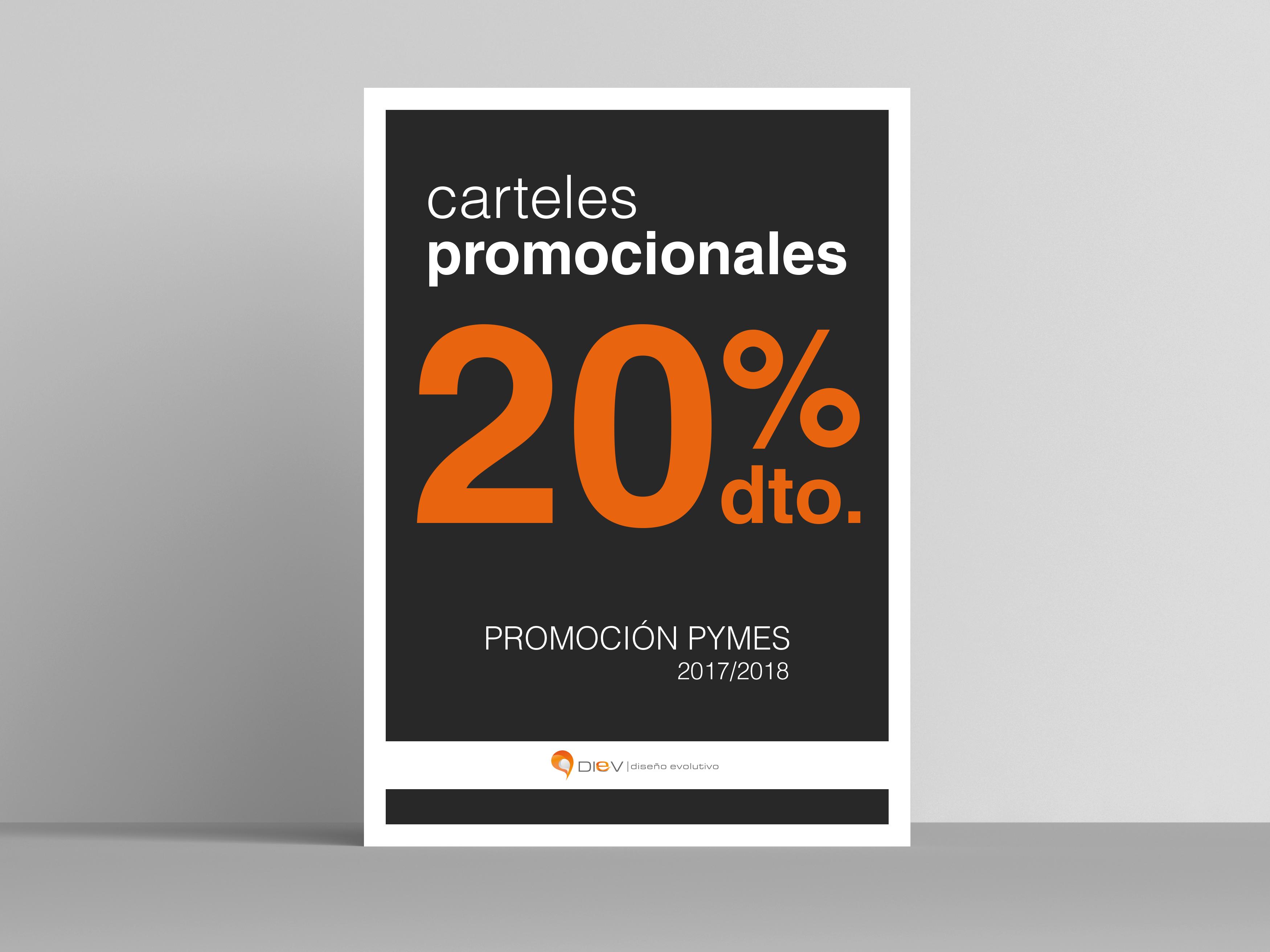 Carteles promocionales black friday diev 20% dto