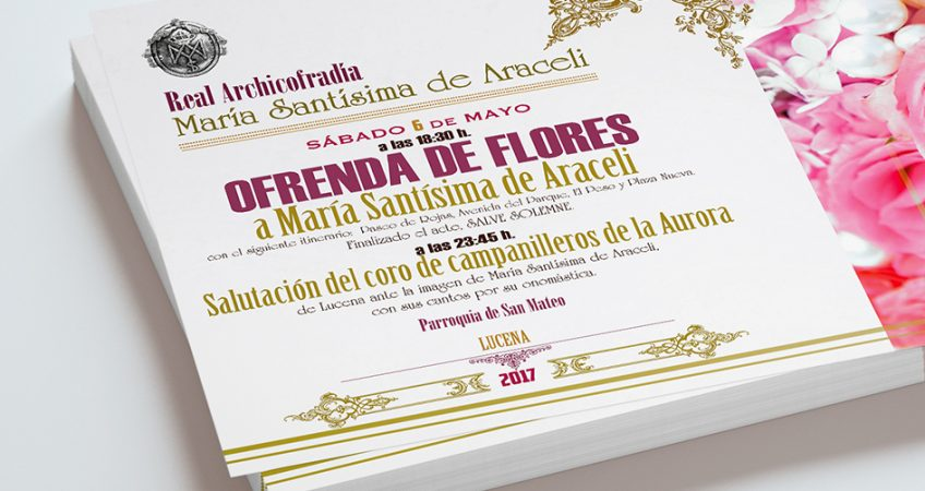 Cartel Ofrenda de Flores Araceli diev